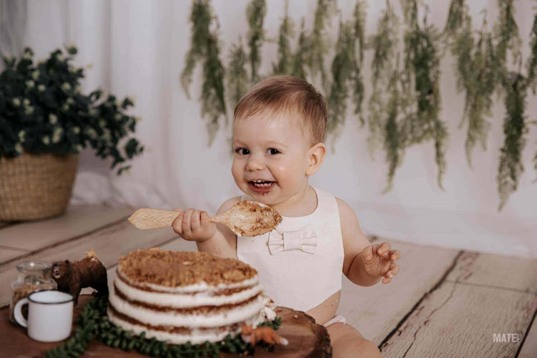 fotografo smash cake cumpleanos bebes estudio en lugo